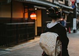 Maiko going to work in Gion, Kyoto