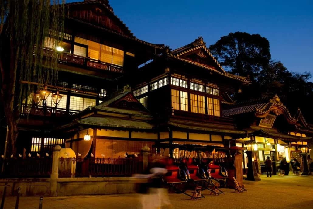 Famous bath house is Dogo Onsen