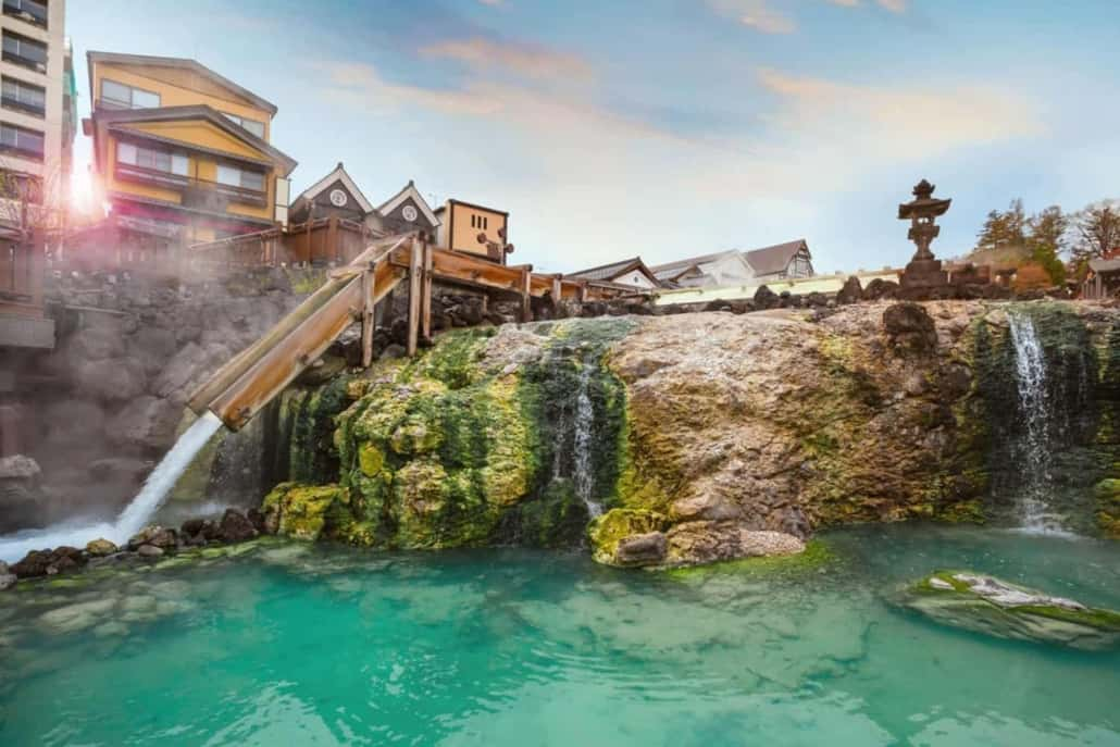 The picturesque town of Kusatsu onsen